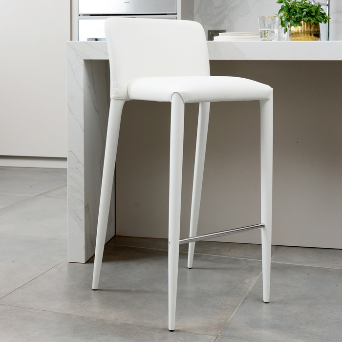 Svelte bar stool white