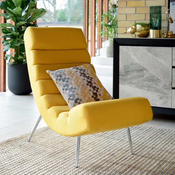 Ripple lounger mustard fabric