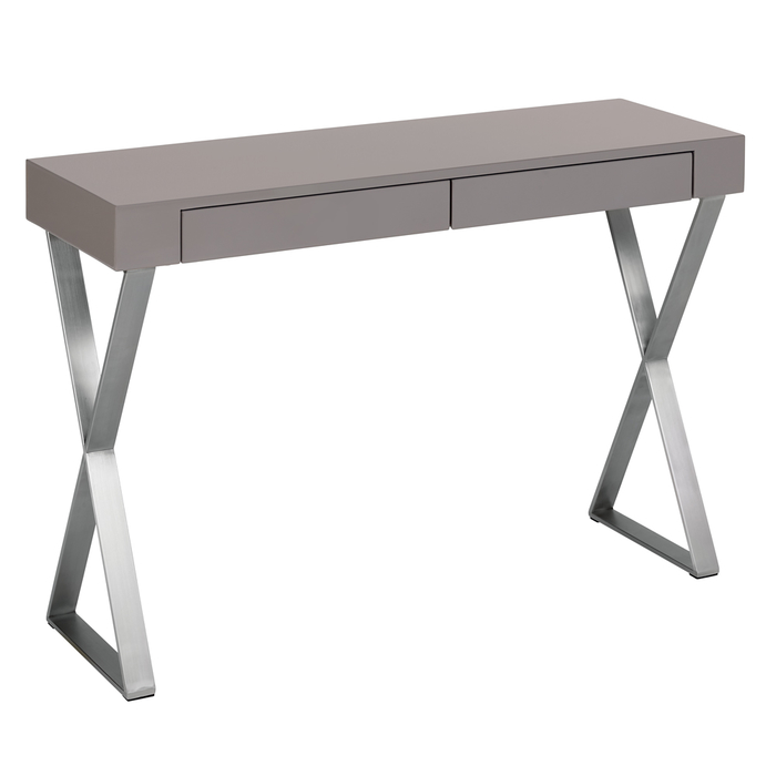 Crossed leg console leg table stone
