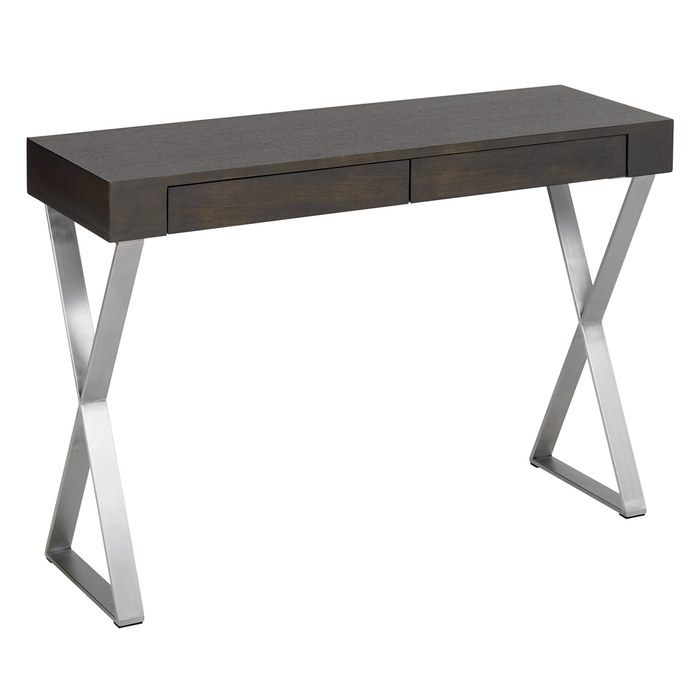 Crossed leg console table chocolate