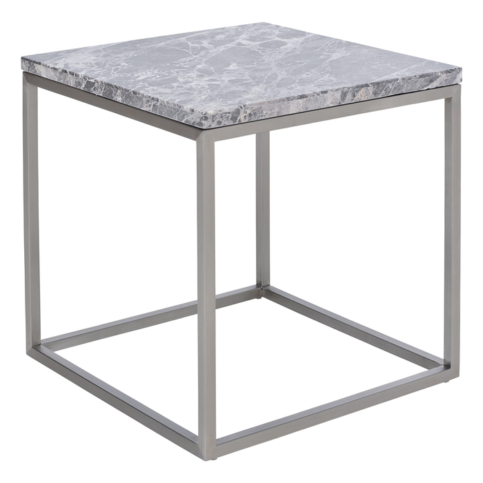 Marble side table light grey