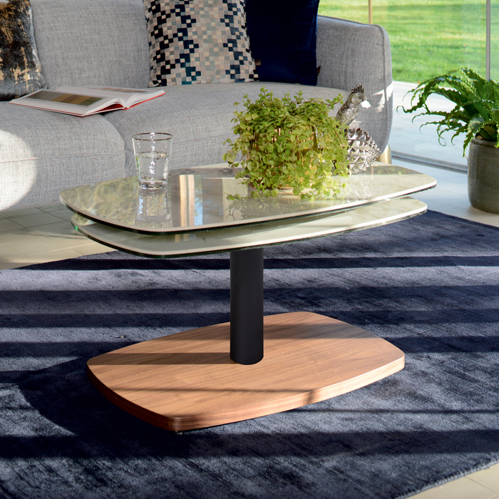 Black Marble Coffee Table Canada: Roma Marble Ceramic Rotating Coffee Table White