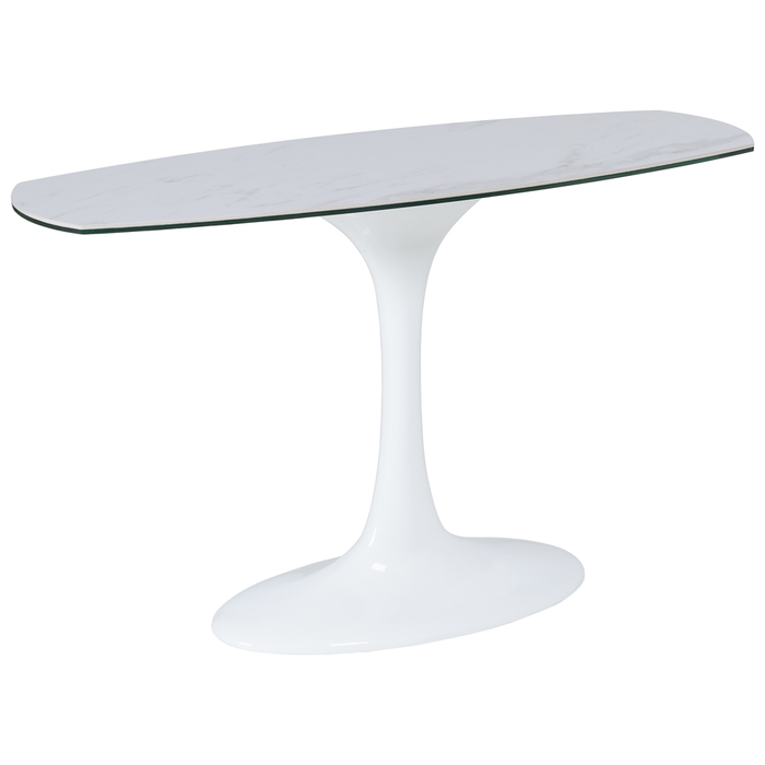 Lille marble ceramic console table white