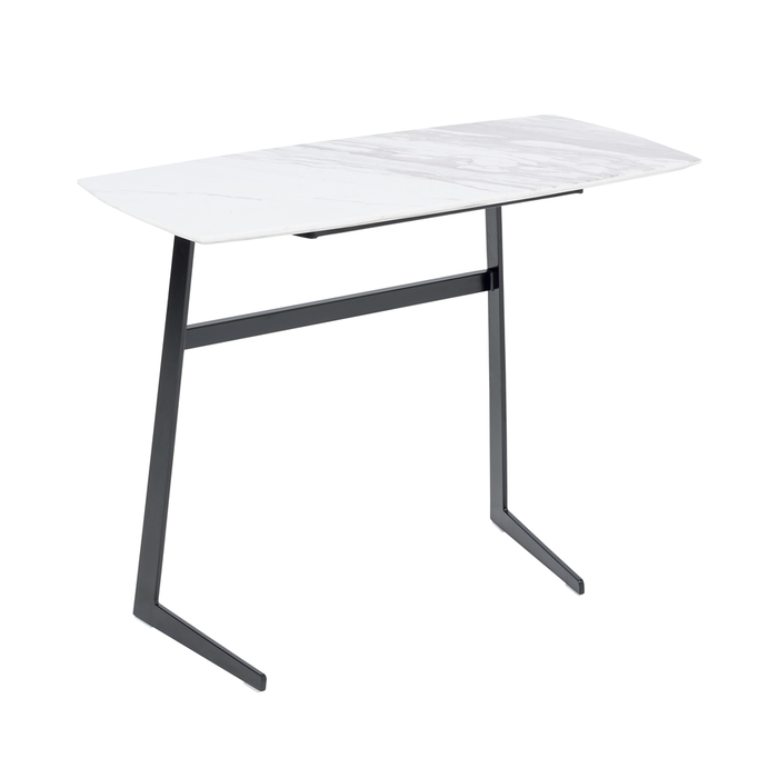 Malmo side table marble top white