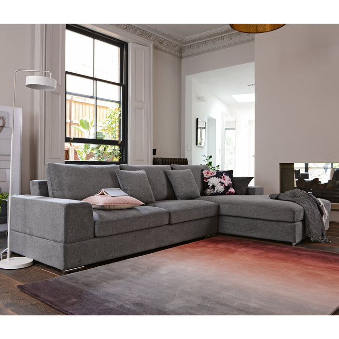 Verona right hand corner sofa grey