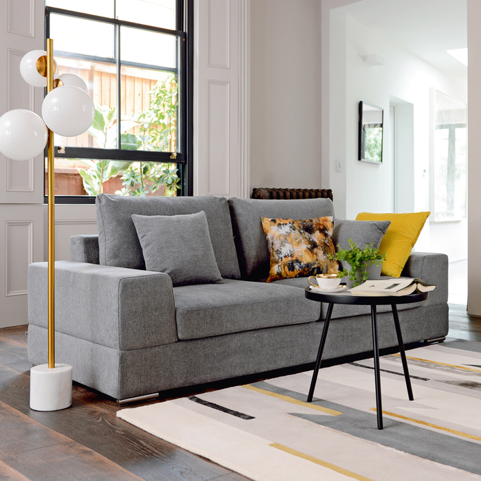 Verona three seater sofa grey
