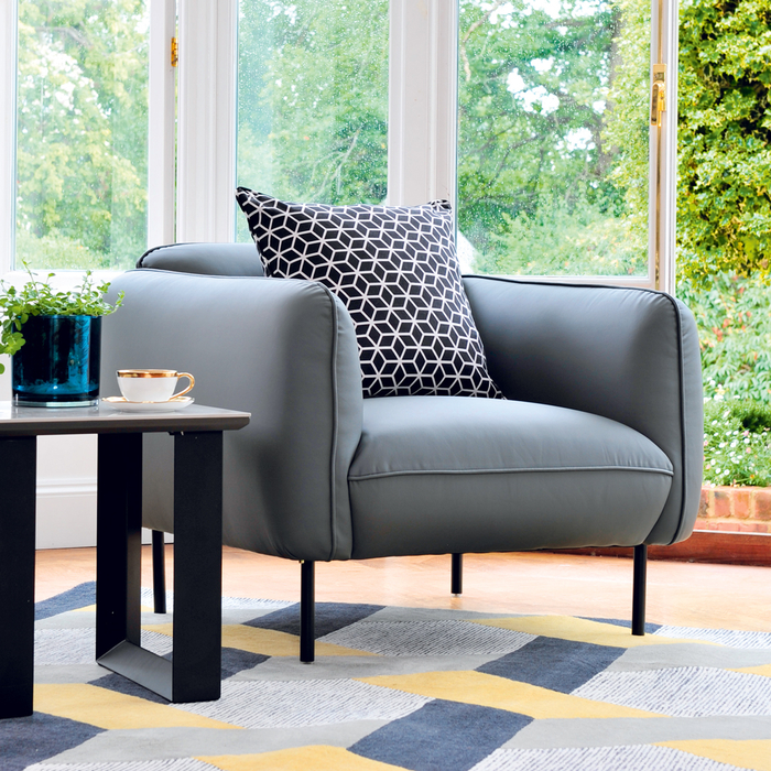 Valletta armchair grey