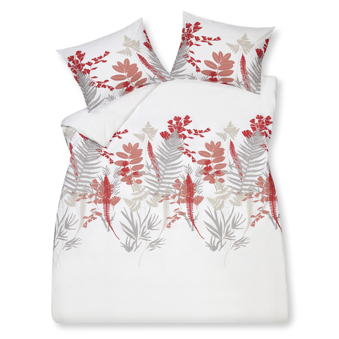 Fern duvet set double pink