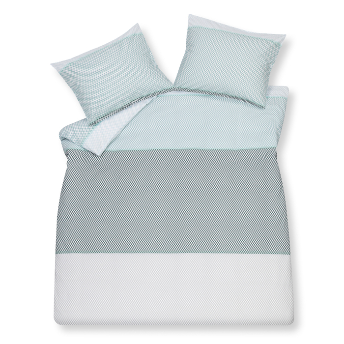 Panels duvet set double blue