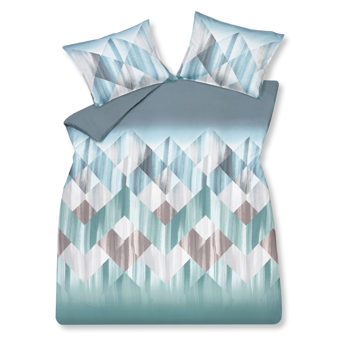 Mountain waves duvet set double blue