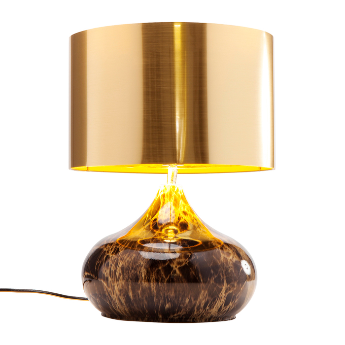 Marbled base table light