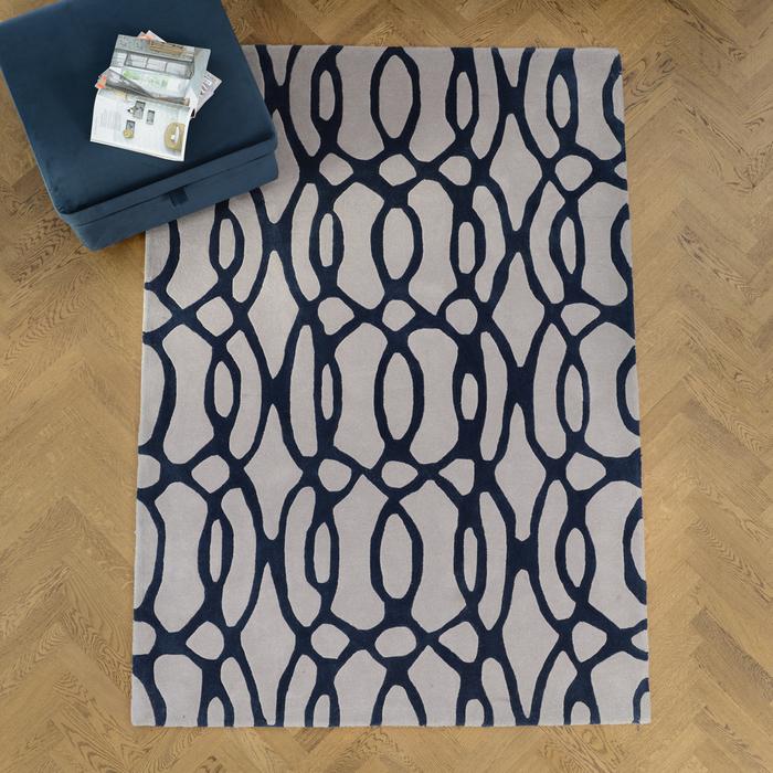 Doodle rug large blue