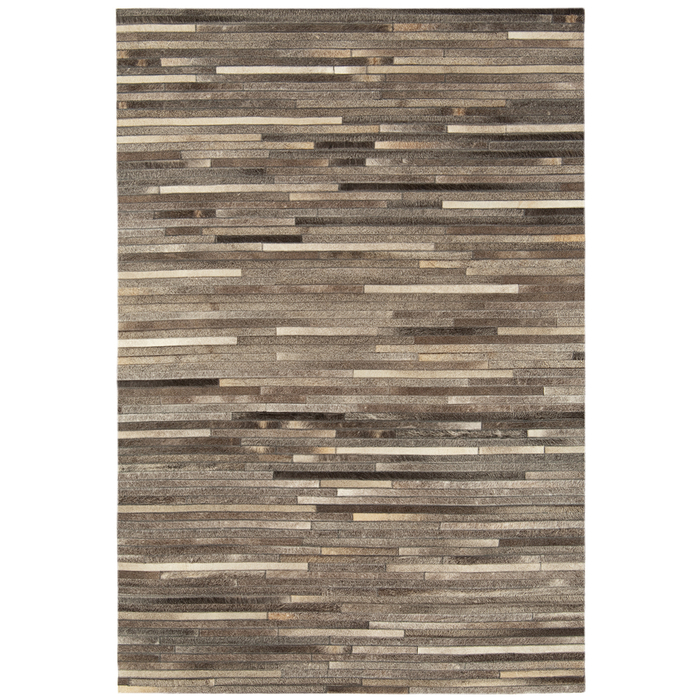 Gaucho rug dark grey stripe large
