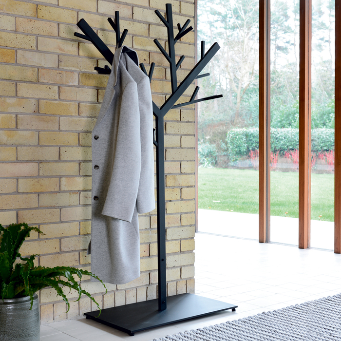 Tree coat stand black