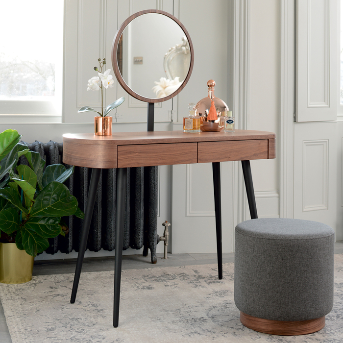 Domina dressing table walnut