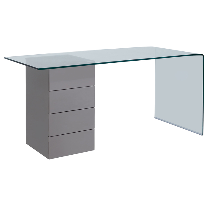 Refract desk with drawers stone