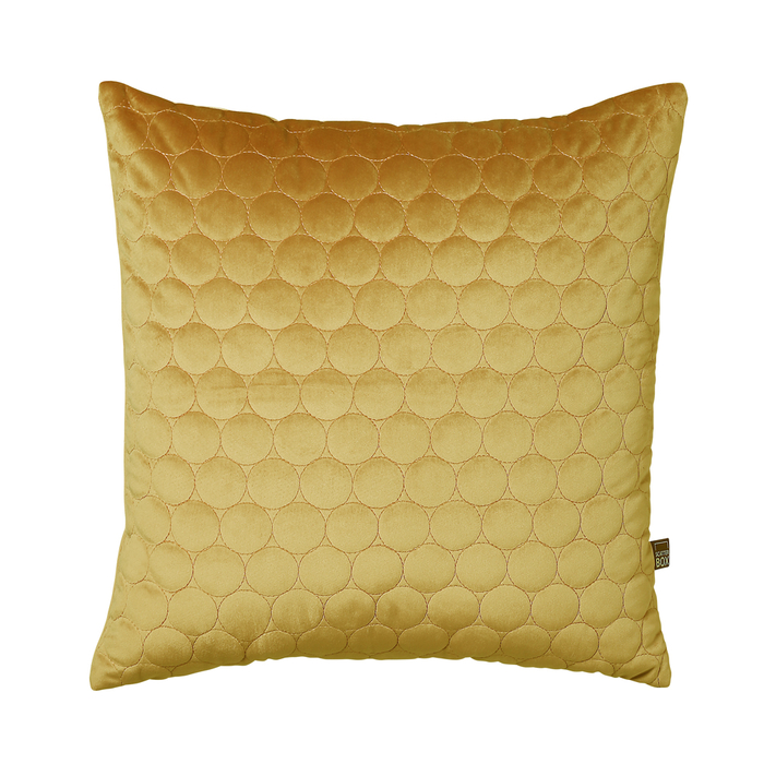 Quilted circles cushion antique gold