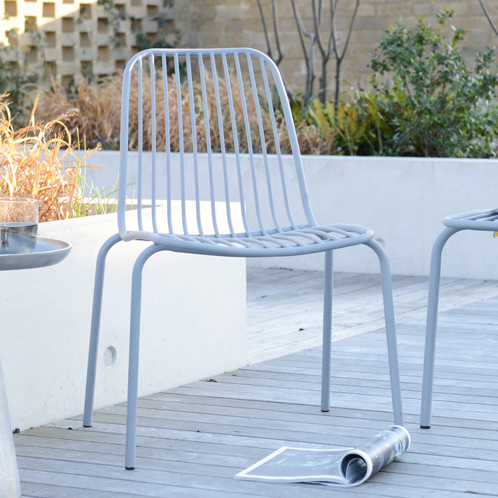 Henley outdoor chair light grey metal