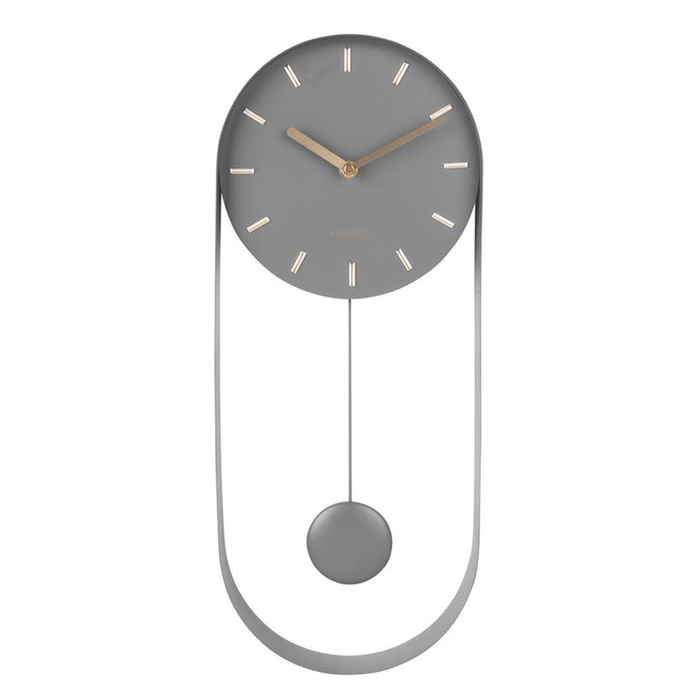 Drop pendulum clock grey