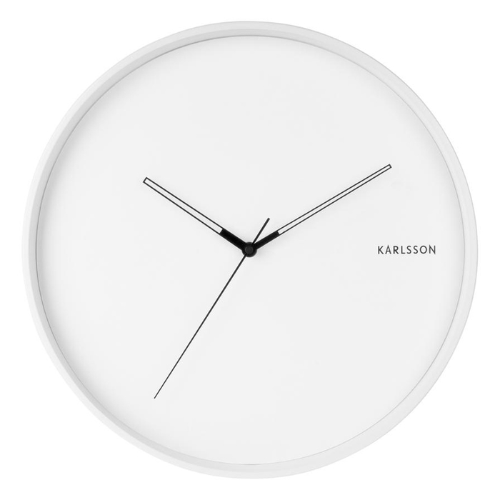 Modest wall clock white