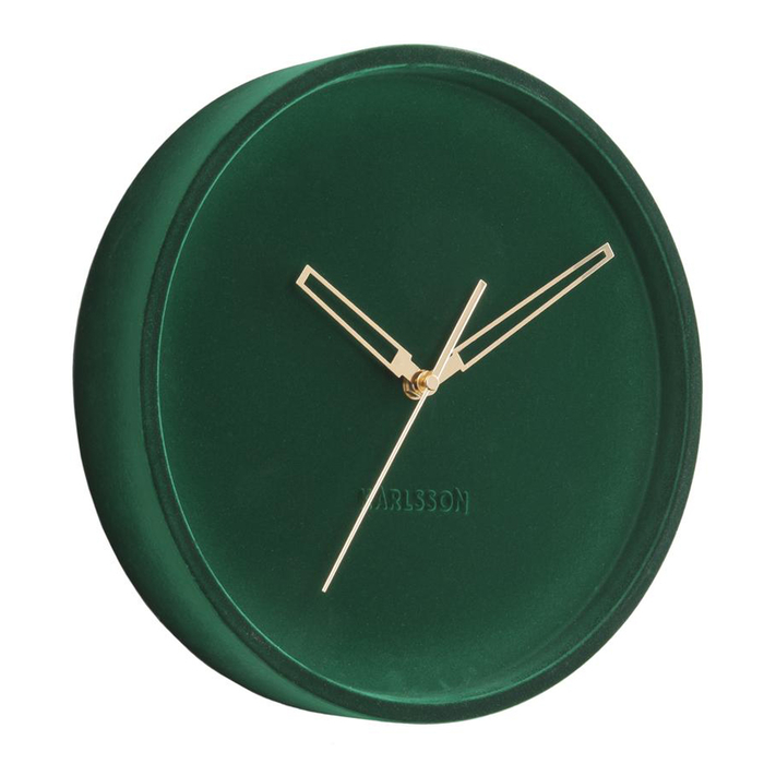 Velvet wall clock green