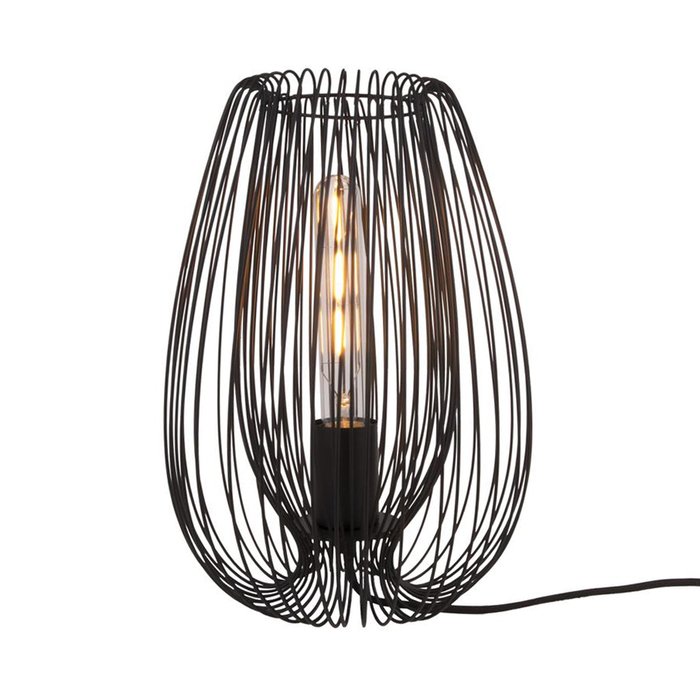 Strand table light black medium