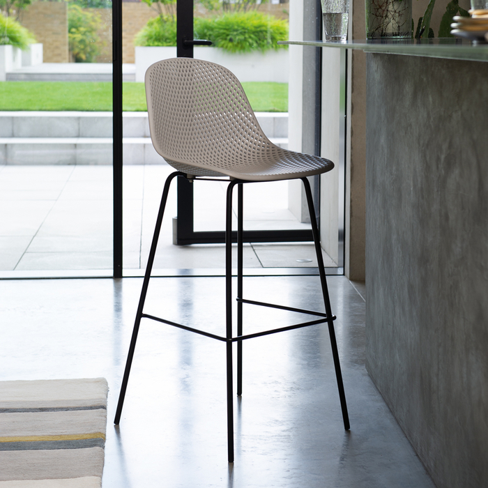 Malla bar stool grey