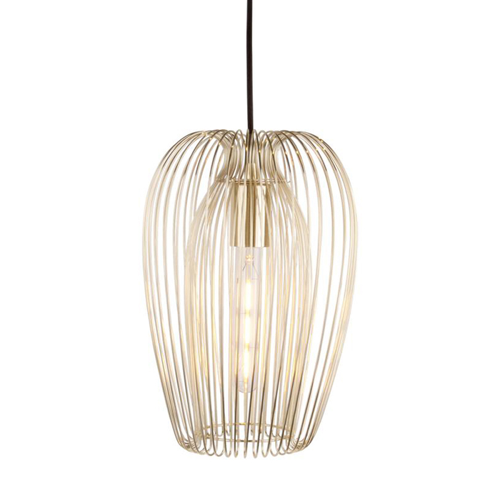 Strand pendant light gold large