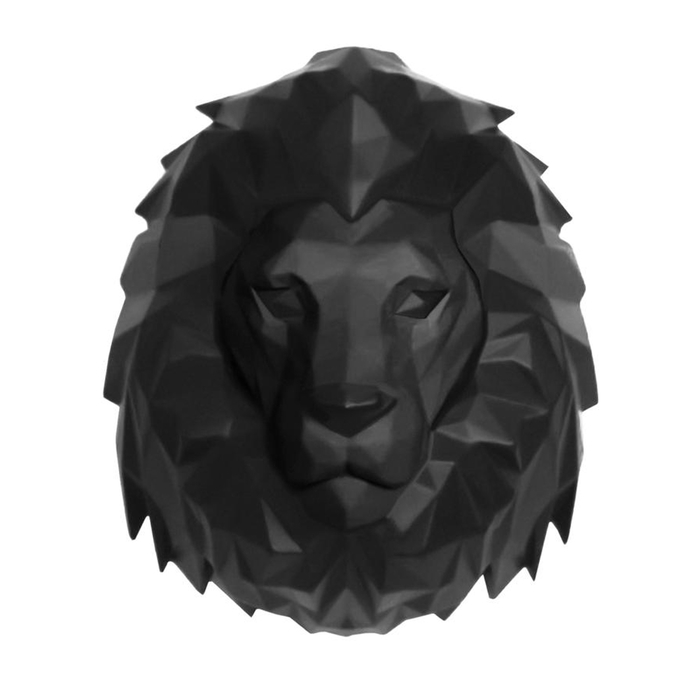 Lion head wall hanging figure
