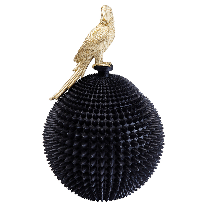 Parrot storage box gold and black
