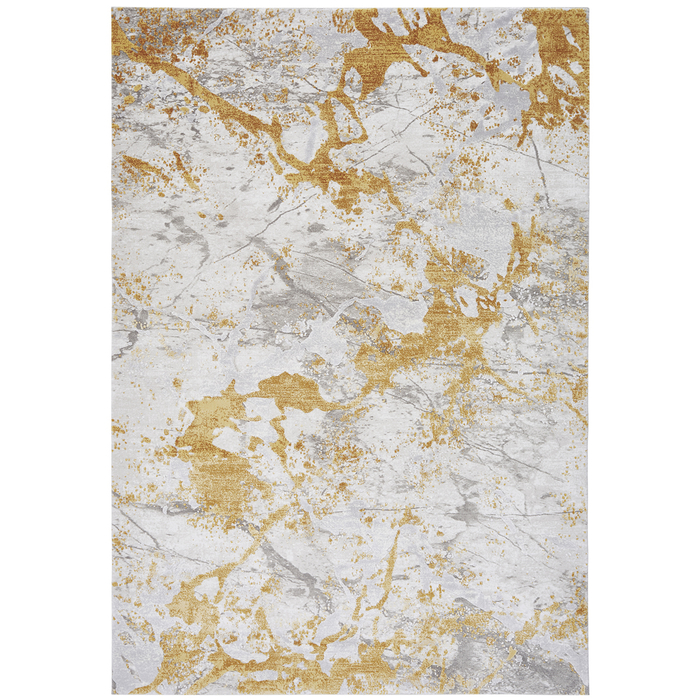 Marbled rug grey and yellow large