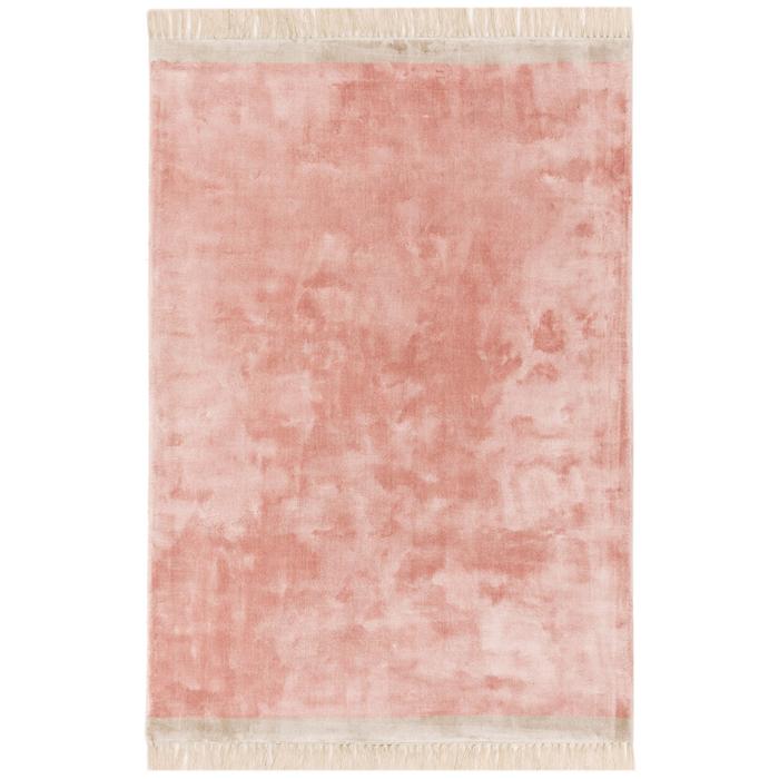 Fringe rug pink large