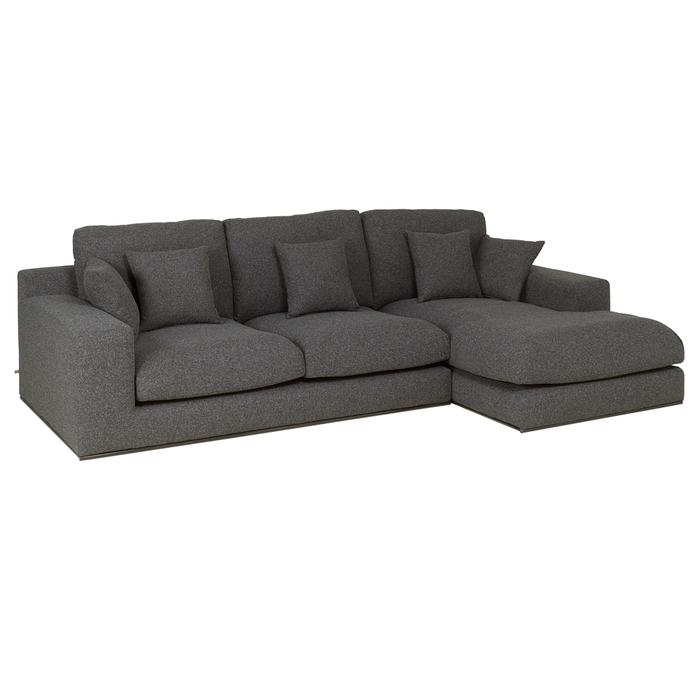 Lisbon right hand corner sofa charcoal