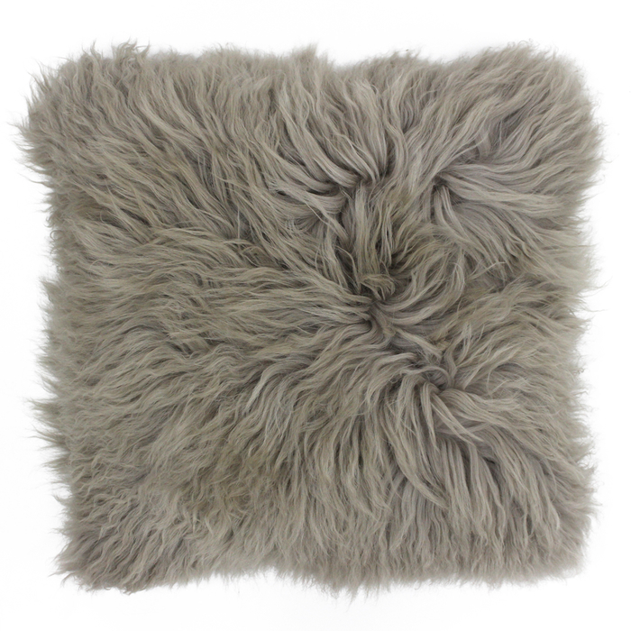 Mongolian sheep cushion brown