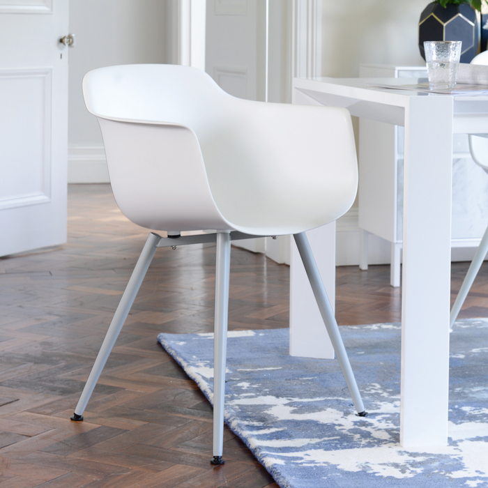Treviso dining armchair white with white leg