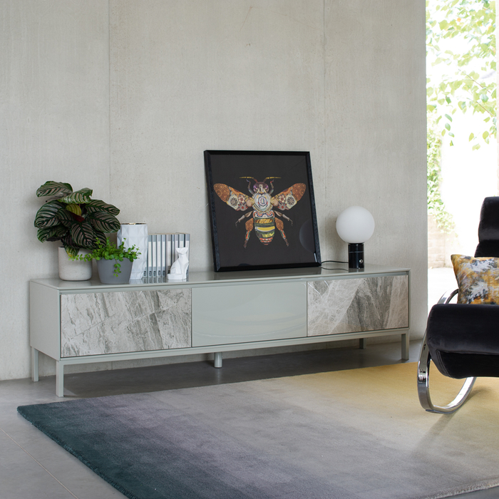 Avant TV unit light grey marble ceramic