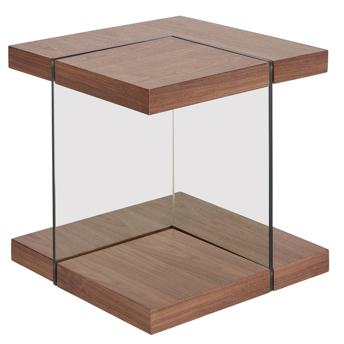 Treble side table walnut