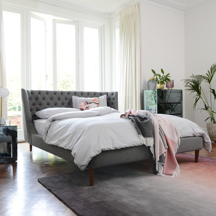 Cavendish bed double grey