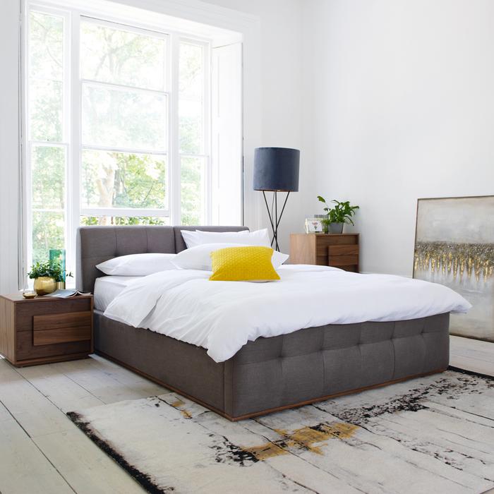 Marseille storage bed grey king