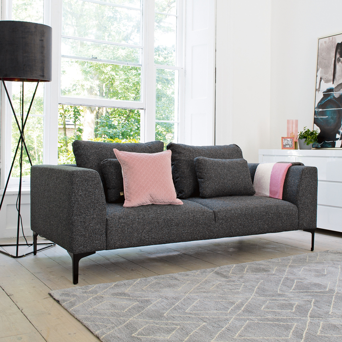 Cannes two seater sofa charcoal