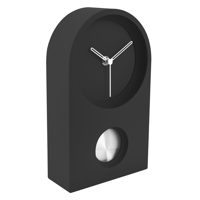 Horatio wall or table clock rubberized black