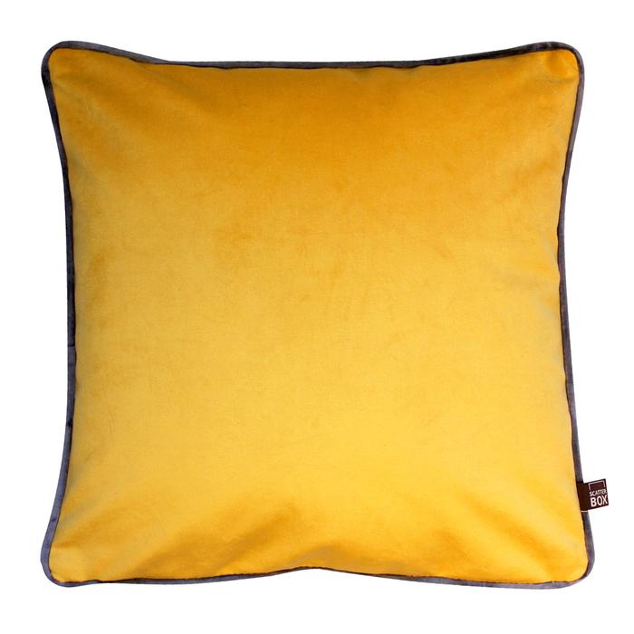 Contrast cushion ochre velvet