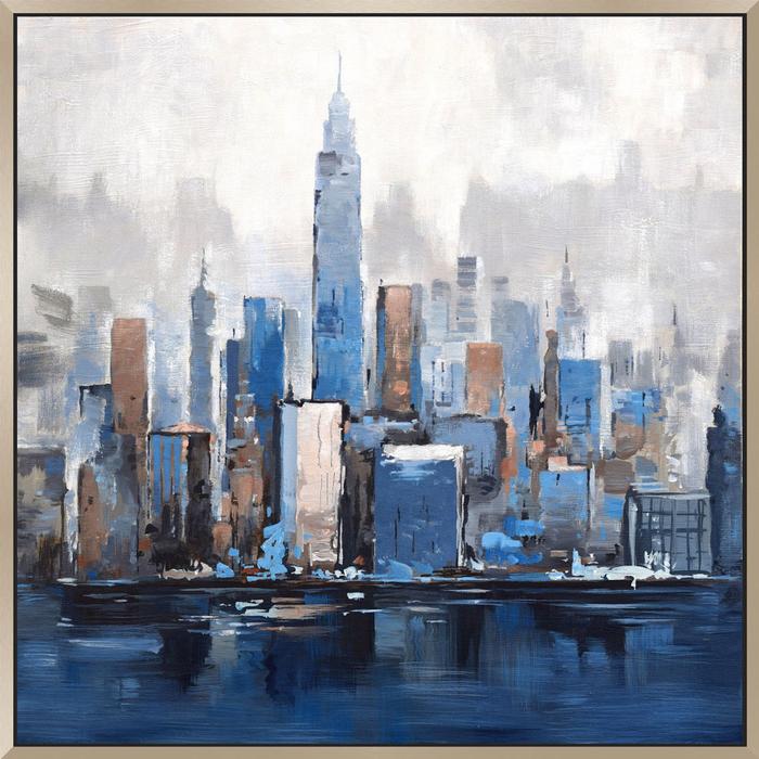 Blue new york paint scene