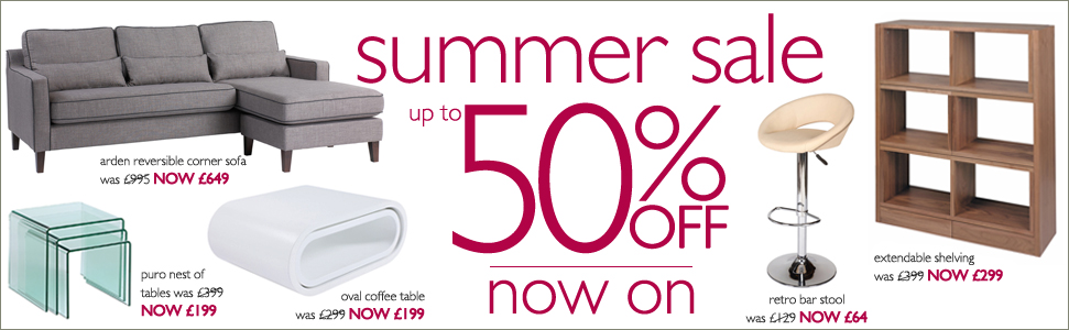 up to 50% off summer sale now on