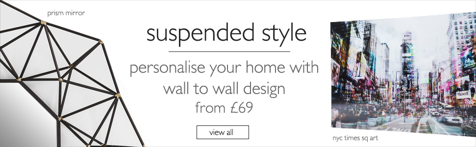 suspended style - personalise your home with wall to wall design