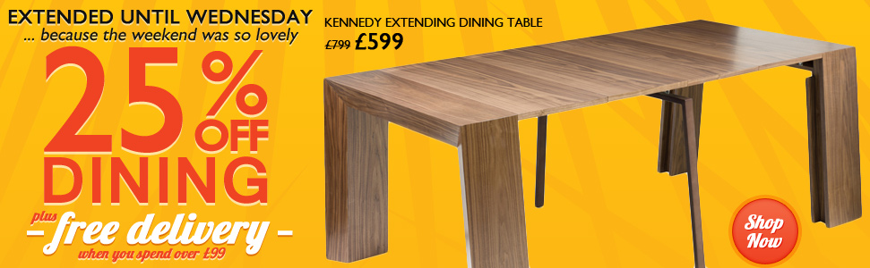 25% off Dining-Huge ranges at great prices