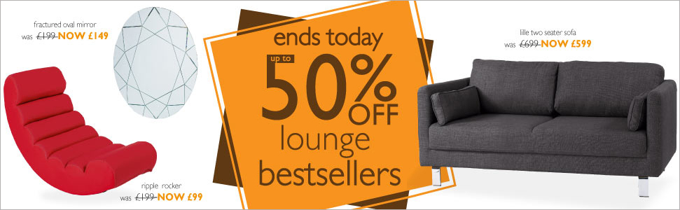 up to 50% off lounge bestsellers