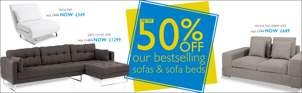 up to 50% off sofa & sofa beds bestsellers