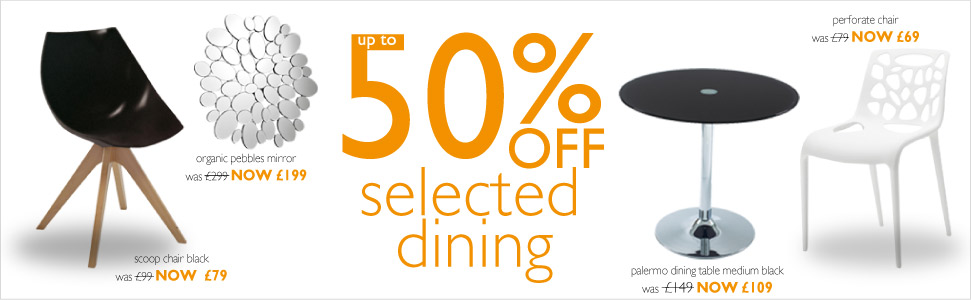 up to 50% off selected dining